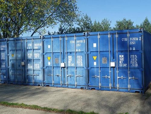 Some containers have adequate space outside to reverse right up to the container door or drive a small/ medium car into