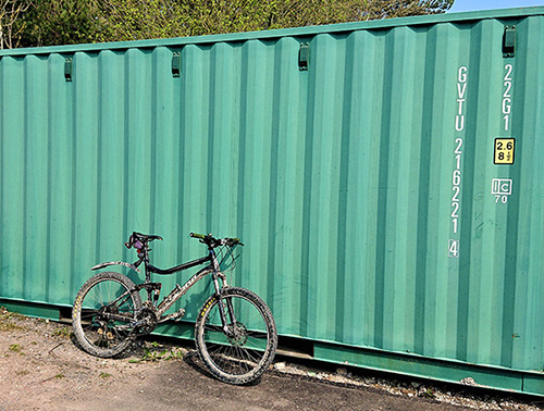 Side view of large (20ft) container
